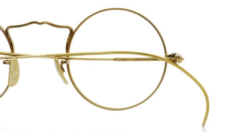American Optical アメリカン オプティカル  antique アンティーク メガネ 1930s MARSHWOOD 1/10 12kGF 40□24 Yellow-Gold 14