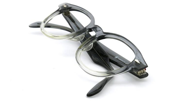 American Optical アメリカンオプチカル (AO)Vintage ヴィンテージ タ?イヤ鋲 ボストン Grey-Fade / Grey 46-20 12