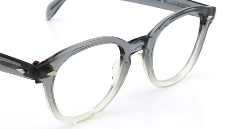 American Optical アメリカンオプチカル (AO)Vintage ヴィンテージ タ?イヤ鋲 ボストン Grey-Fade / Grey 46-20 6