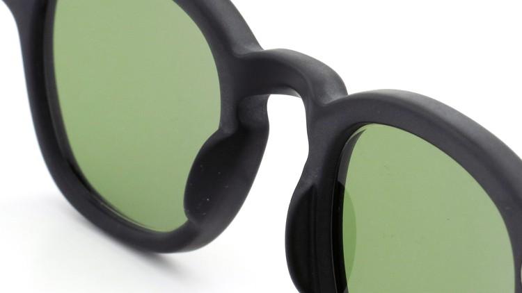 MOSCOT ORIGINALS (モスコット) サングラスカスタム LEMTOSH レムトッシュ Col.MATTE BLACK 44size Green-Lense { Sunglass by ponmegane } 8