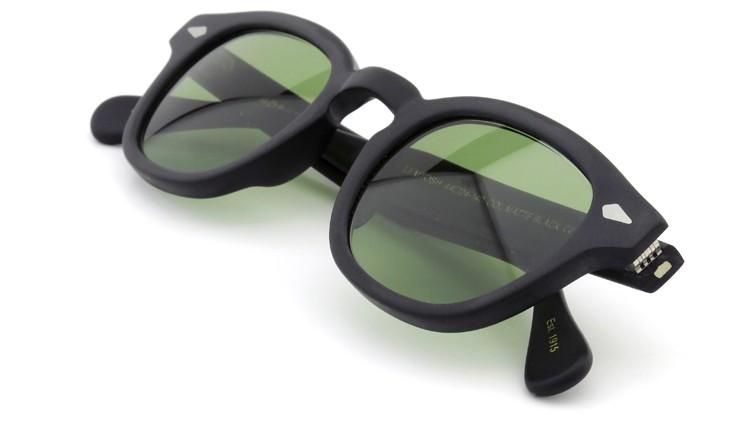 MOSCOT ORIGINALS (モスコット) サングラスカスタム LEMTOSH レムトッシュ Col.MATTE BLACK 44size Green-Lense { Sunglass by ponmegane } 11