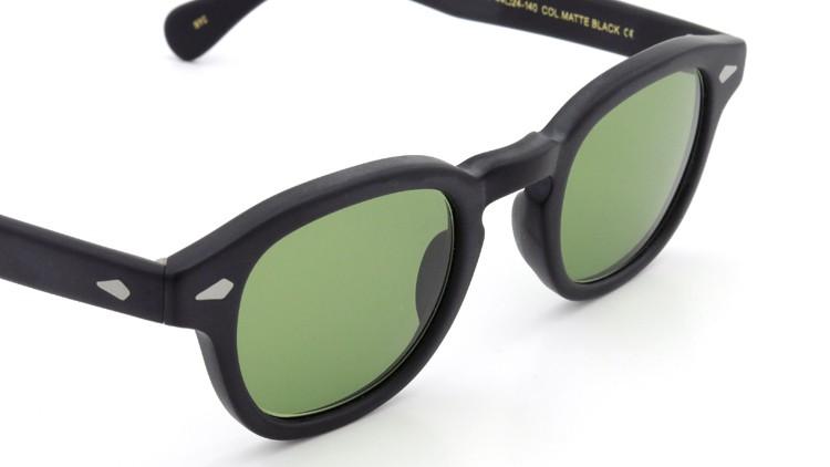 MOSCOT ORIGINALS (モスコット) サングラスカスタム LEMTOSH レムトッシュ Col.MATTE BLACK 44size Green-Lense { Sunglass by ponmegane } 6