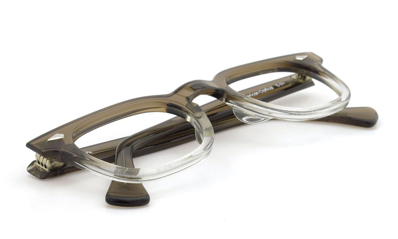 American Optical アメリカンオプティカル (AO)Vintage ヴィンテージメガネ RF23 ダイヤ鋲 BROWN-FADE-FRONT 44-24 11