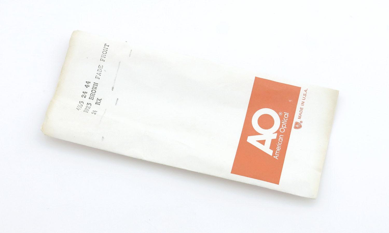 American Optical アメリカンオプティカル (AO)Vintage ヴィンテージメガネ RF23 ダイヤ鋲 BROWN-FADE-FRONT 44-24 15