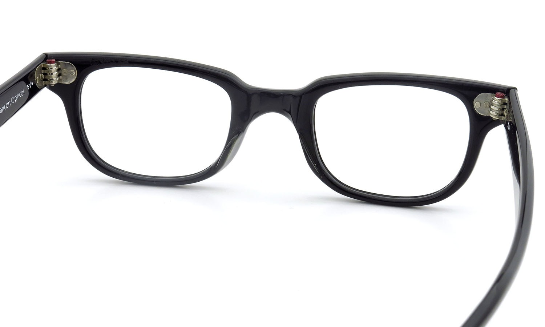 American Optical アメリカンオプティカル (AO)Vintage ヴィンテージメガネ F523 MAIN EVENT 変形ダイヤ鋲 BLACK 44-22 7