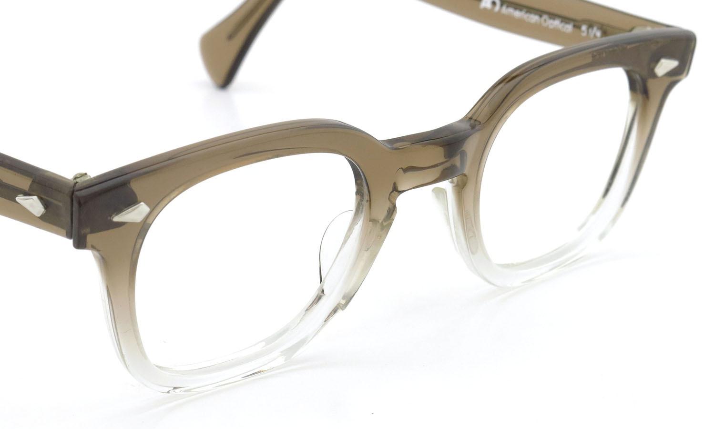 American Optical アメリカンオプティカル (AO)Vintage ヴィンテージメガネ RF23 ダイヤ鋲 BROWN-FADE-FRONT 44-24 6