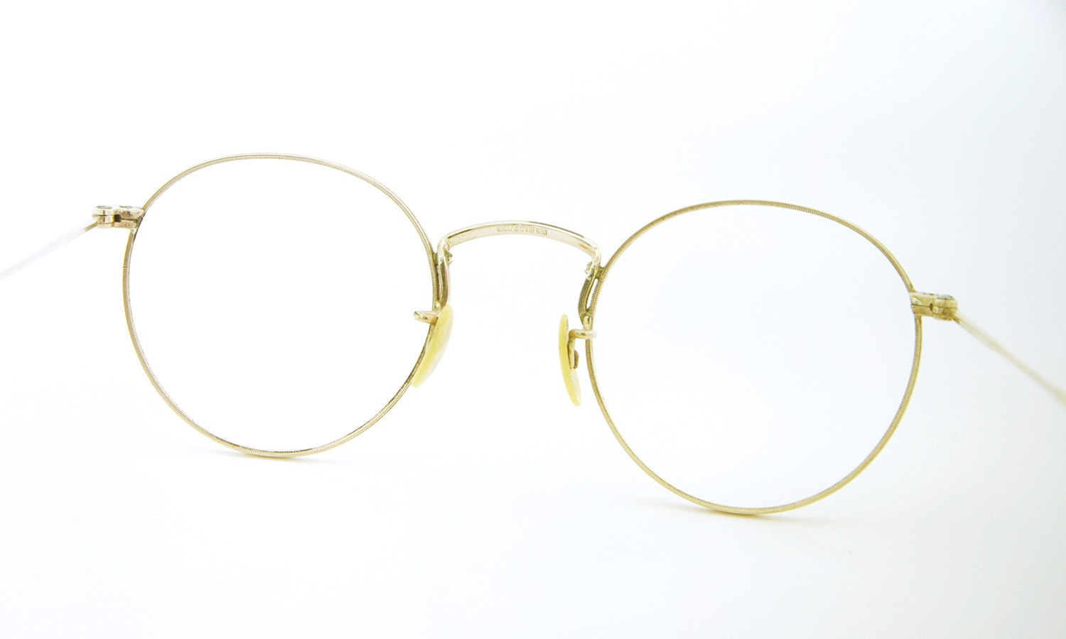 American vintage アメリカン ヴィンテージ メガネ 1930年代 P3 BS01/10 12KGF HIBO MARSHWOOD col.Golds 7