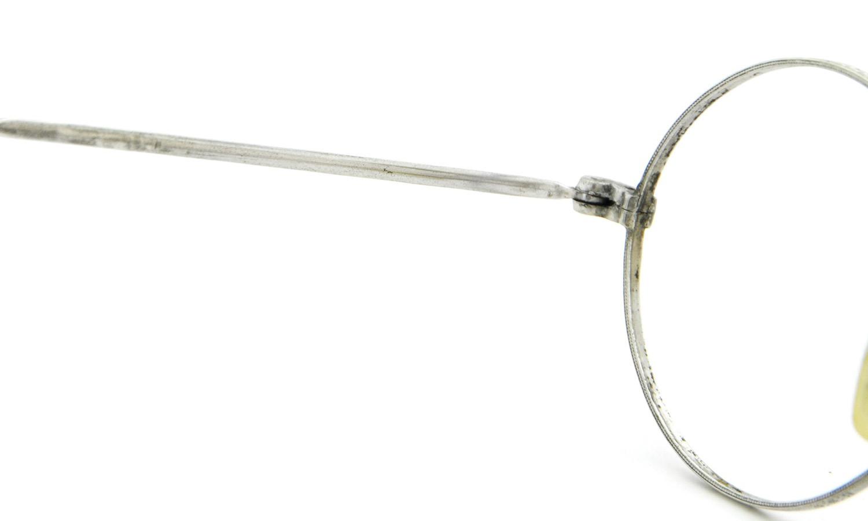 American vintage アメリカン ヴィンテージ メガネ 1930年代 ROUND MASHWOOD col.Silver 9