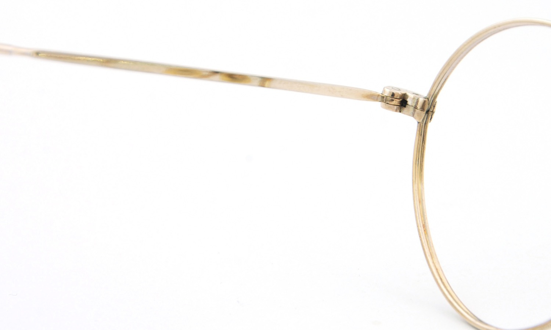 American vintage アメリカン ヴィンテージ メガネ 1930年代 PANTO 12kGF DECO MASHWOOD CENTER-POINT 45-20 9
