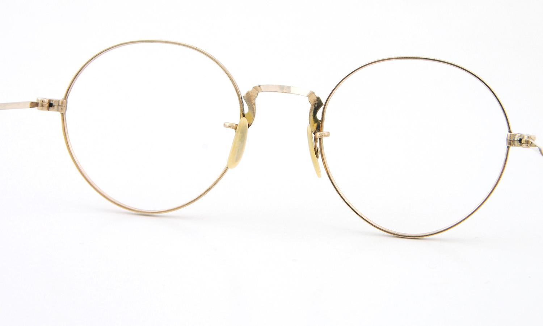 American vintage アメリカン ヴィンテージ メガネ 1930年代 PANTO 12kGF DECO MASHWOOD CENTER-POINT 45-20 7