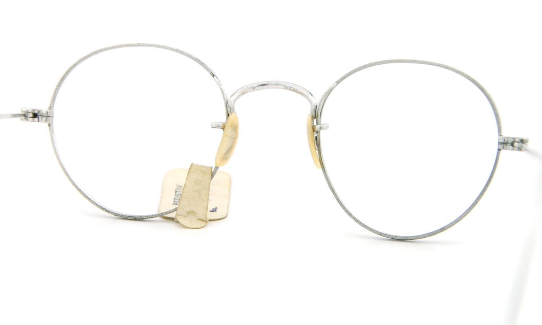 American vintage アメリカン ヴィンテージ メガネ 1930年代 REZISTIV PANTO 1/10 12kGF MASHWOOD CENTER-POINT col.White-Gold 42-21 7