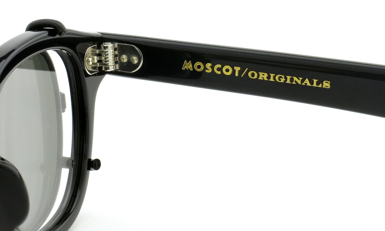 MOSCOT ORIGINALS(モスコット オリジナルス)クリップオン セットLEMTOSH Col.BLACK 44size + 純正クリップオン ブラック/グリーンレンズ 11