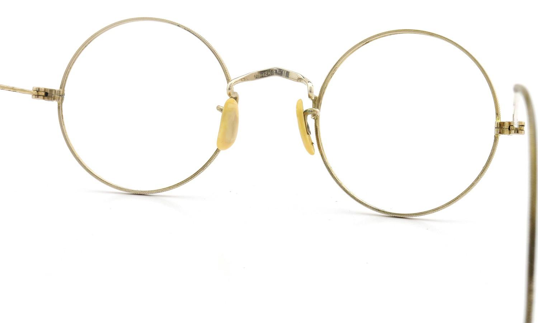 American vintage アメリカン ヴィンテージ メガネ 1930年代 ROUND 1/10 12K CENTER-POINT 42-21 8