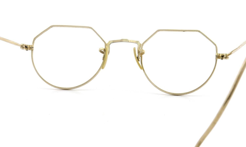 希少 American vintage アメリカン ヴィンテージ メガネ 1930年代 CROWN-PANTO 1/10 12KGF 41-21 7