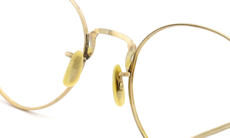 American vintage アメリカン ヴィンテージ メガネ 1930年代 ROUND DECO MASHWOOD CENTER-POINT 45-20 8