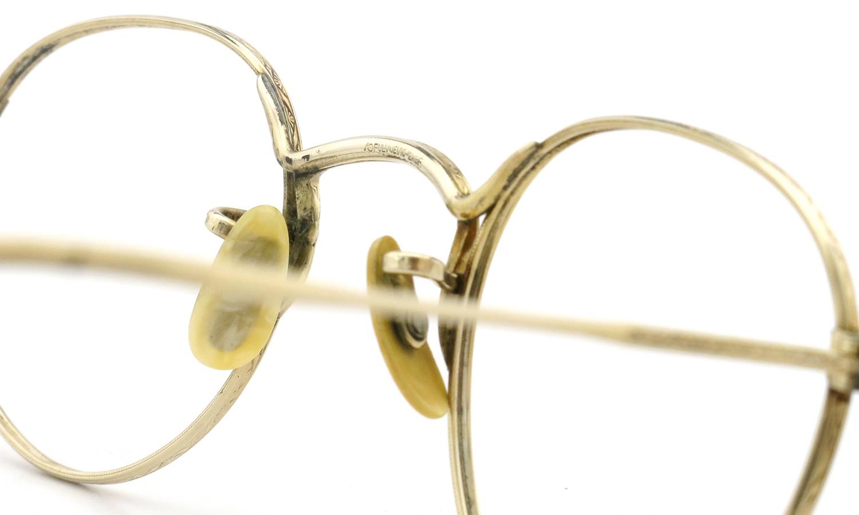 American Optical アメリカン オプティカル vintage ヴィンテージ メガネ 1930年代 PANTO FUL-VUE MARSHWOOD 1/10 12kGF 39-22 8