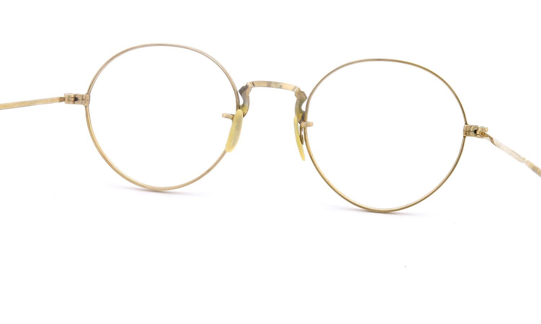 American vintage アメリカン ヴィンテージ メガネ 1930年代 ROUND DECO MASHWOOD CENTER-POINT 45-20 7