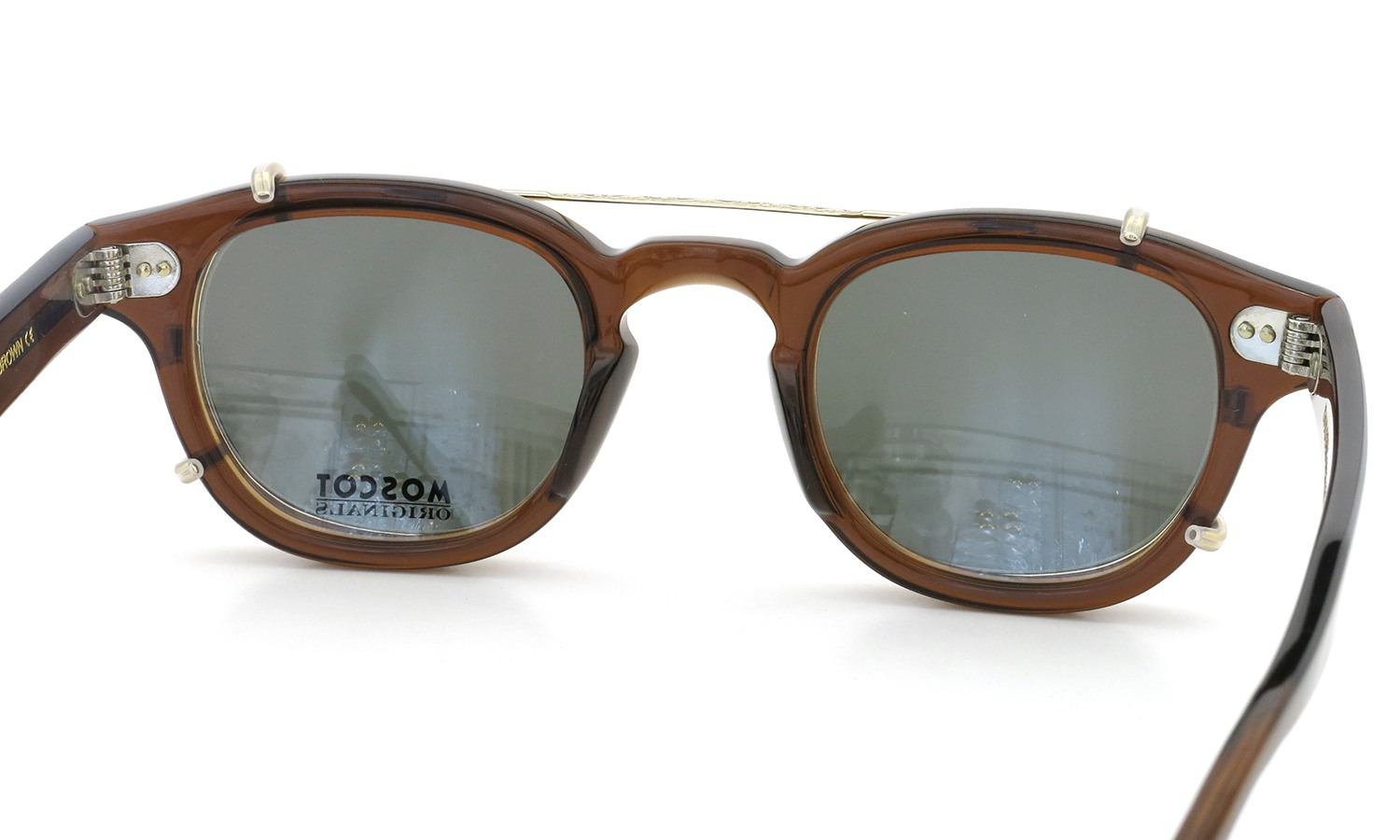 MOSCOT LEMTOSH Col.BROWN 44size + gold clip