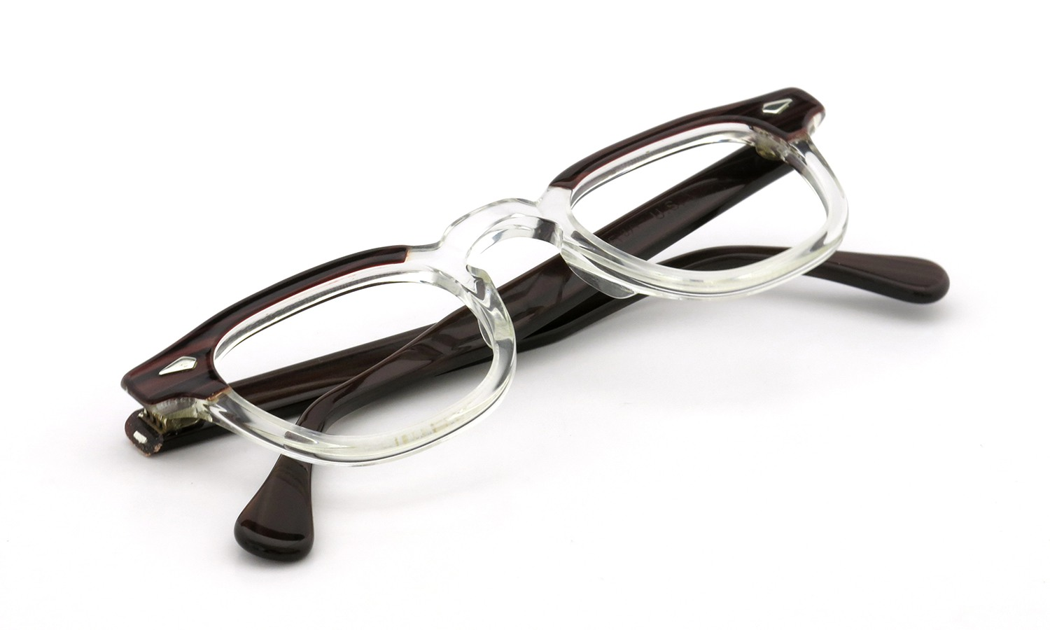 TART Optical vintage 通販 ARNEL REDWOOD C.B.-CLEAR 44-24 [03]