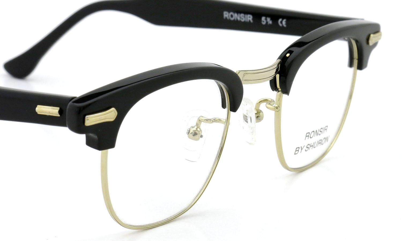 SHURON シュロン メガネ RONSIR ロンサー ZYL Black/Gold 44-22