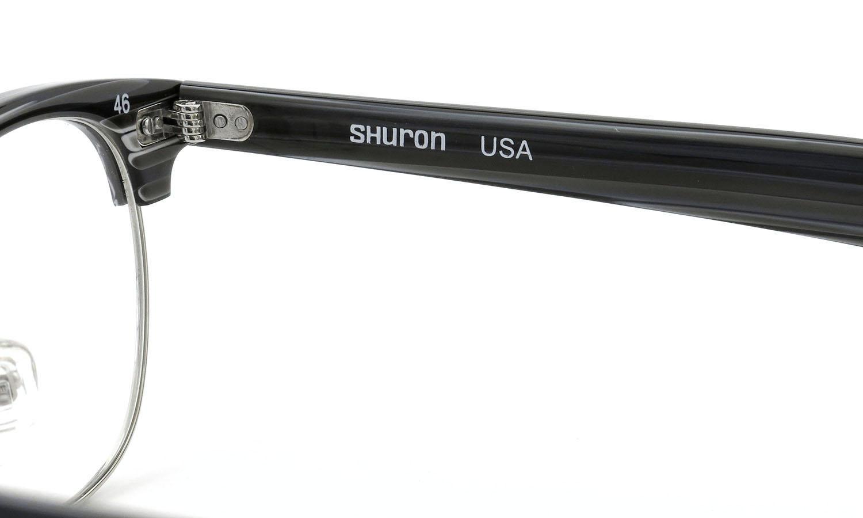 SHURON シュロン メガネ RONSIR ロンサー ZYL Black Briar/Silver 46-22