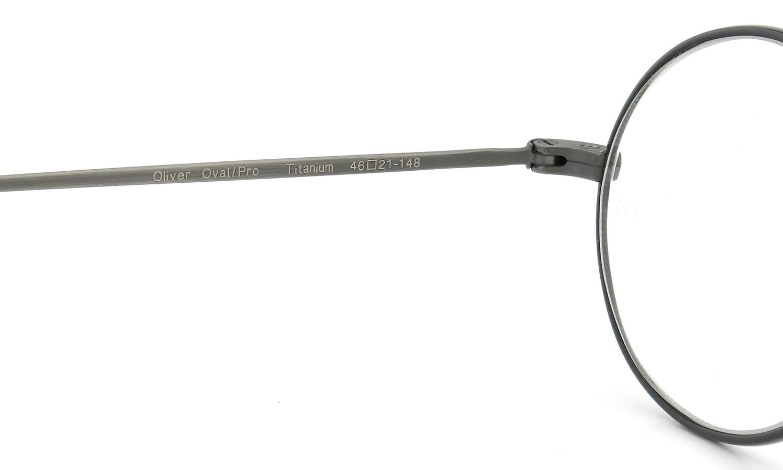 オリバーゴールドスミス ジョンレノンのメガネ Oval/Pro オーバル Titanium Antique-Silver BK