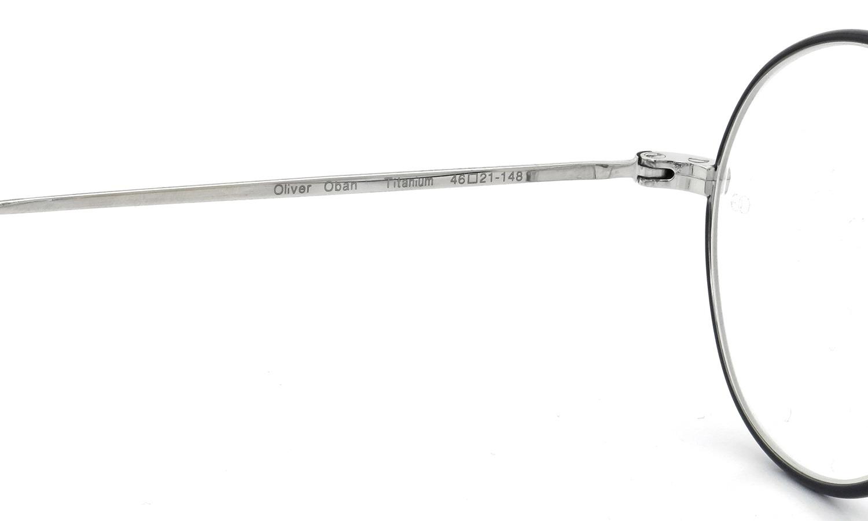 オリバーゴールドスミス メガネ Oliver Oban オーバン Titanium Silver-BK