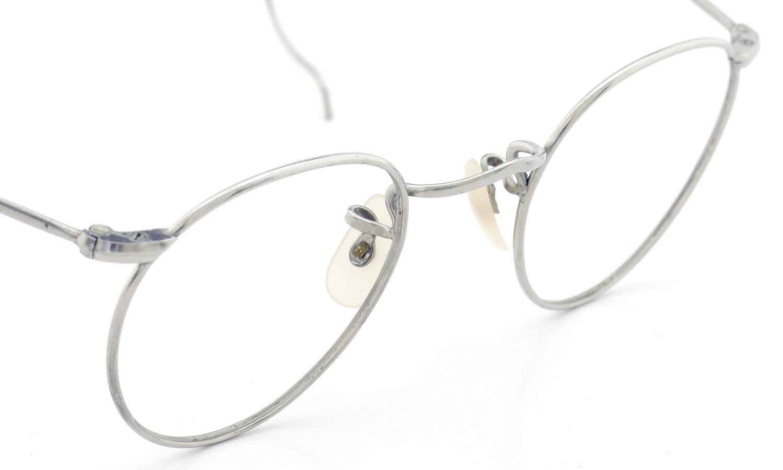 Savile Row Vintage 推定1940年代 メガネ ALGHA WORKS OPTICAL PANTO NUDE-PAD col.Silver