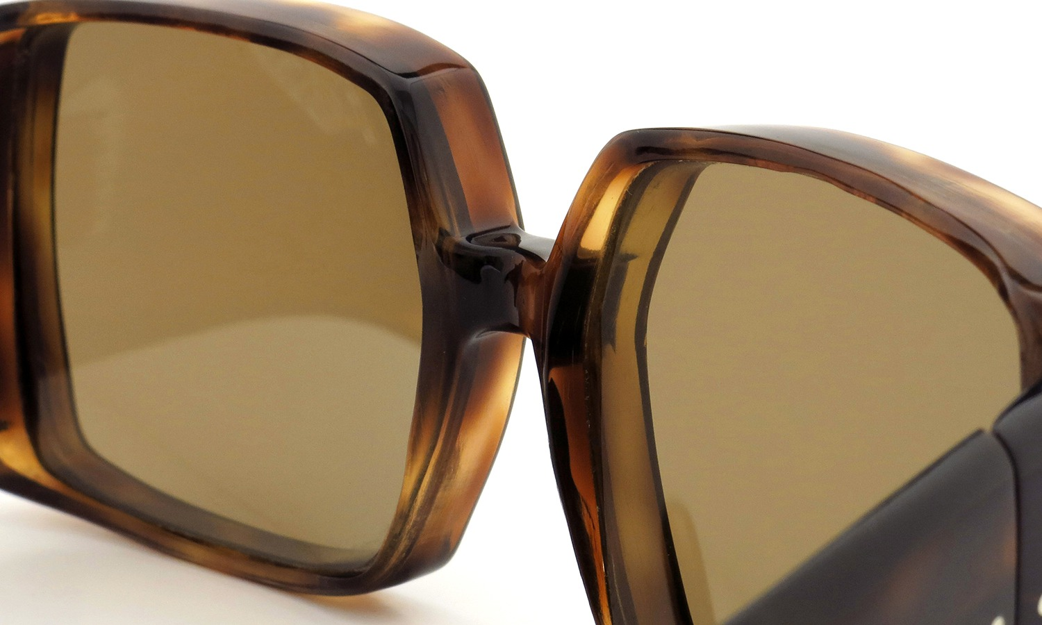FRANCE Vintage サングラス 推定1950年代 THREE DOTS BIG SQUARE FRAME 63-17 DEMI