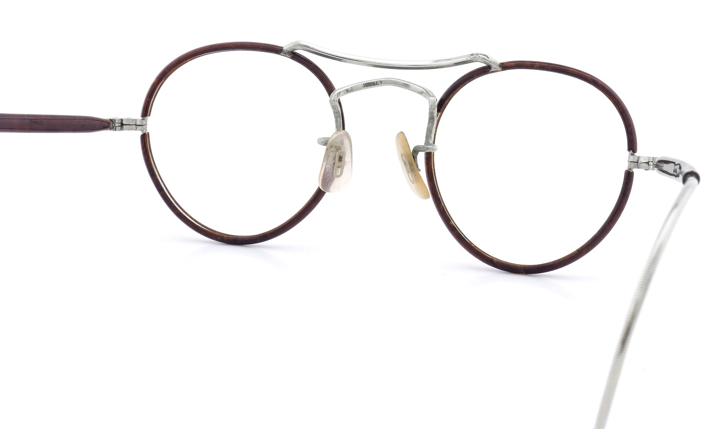 ENGLAND イングランド ヴィンテージ 推定1940年代 メガネ THE-HADLEY-COMPANY PANTO W-BRIDGE Silver/Chestnut