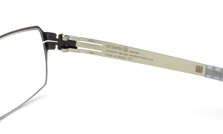 ic!berlin ロングセラー メガネ paxton graphite/electric light olive