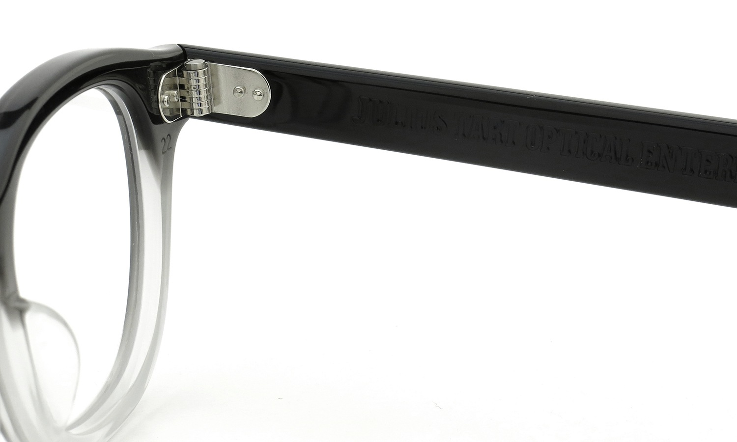 JULIUS TART OPTICAL AR-44 BLACK CLEAR FADE