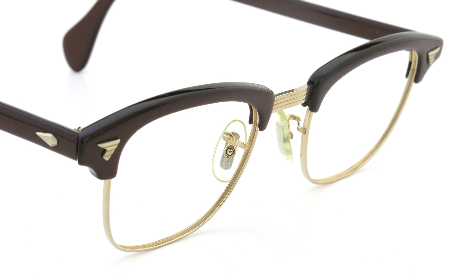 AO Vintage Malcolm-X type:2 1/10 12KGF ウイング鋲 Toffee/Gold 44-20