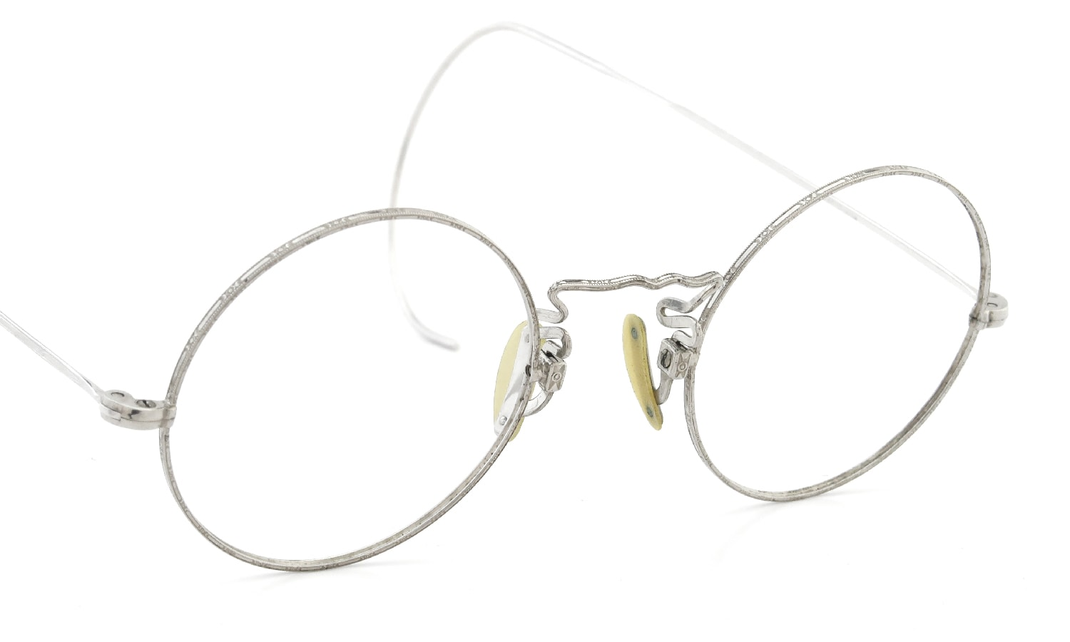 1920-30s American Optical CORTLAND ROUND WHITE GOLD