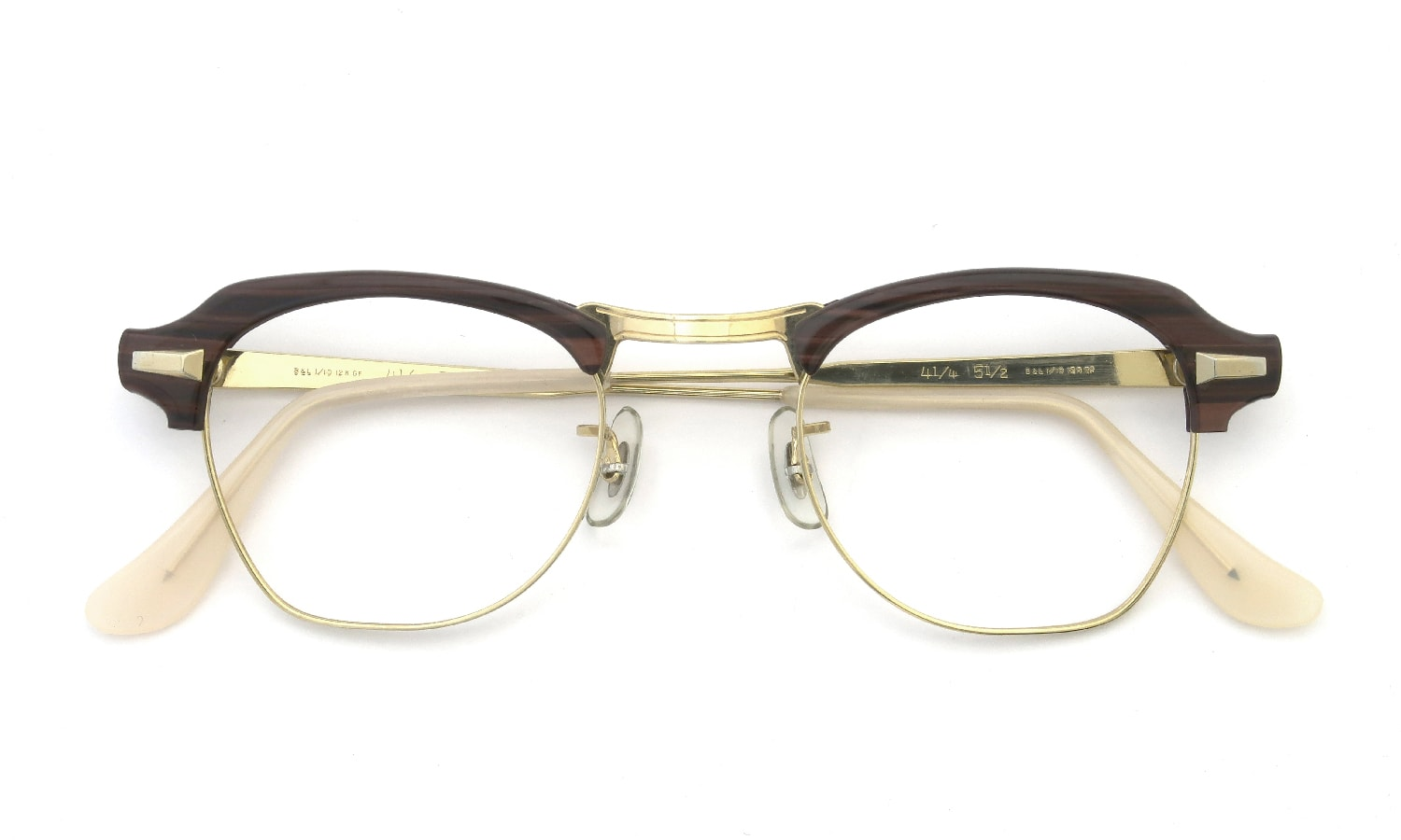 3fa791c9e0fd Bausch Lomb vintage 1950-60s BROW 1 10 12KGF REDWOOD GOLD 44-22