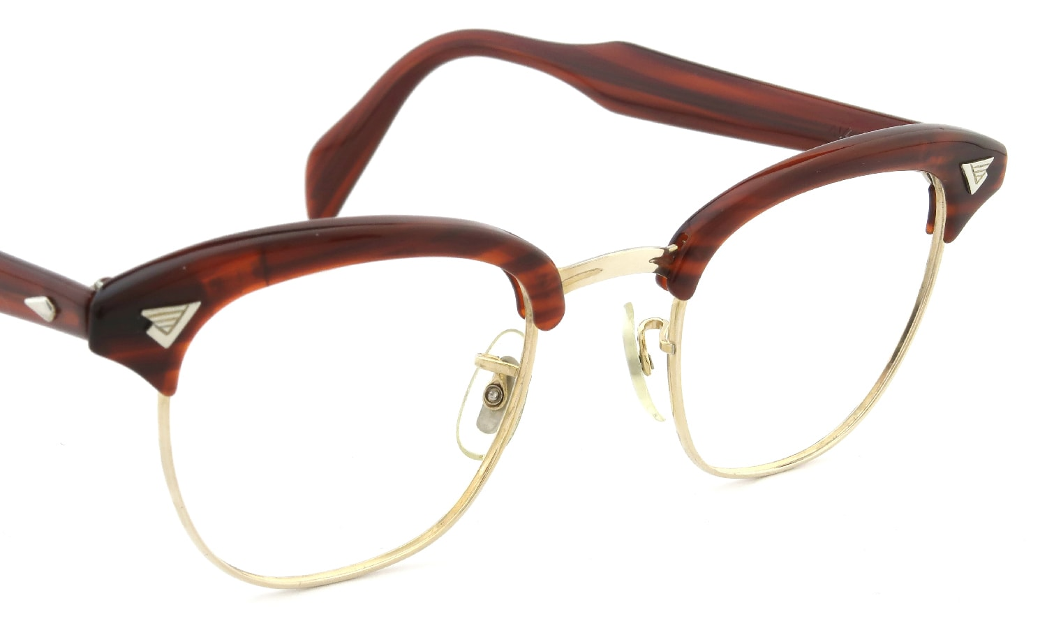American Optical vintage MALCOLM-X type:1 MAROON/GOLD 46-22