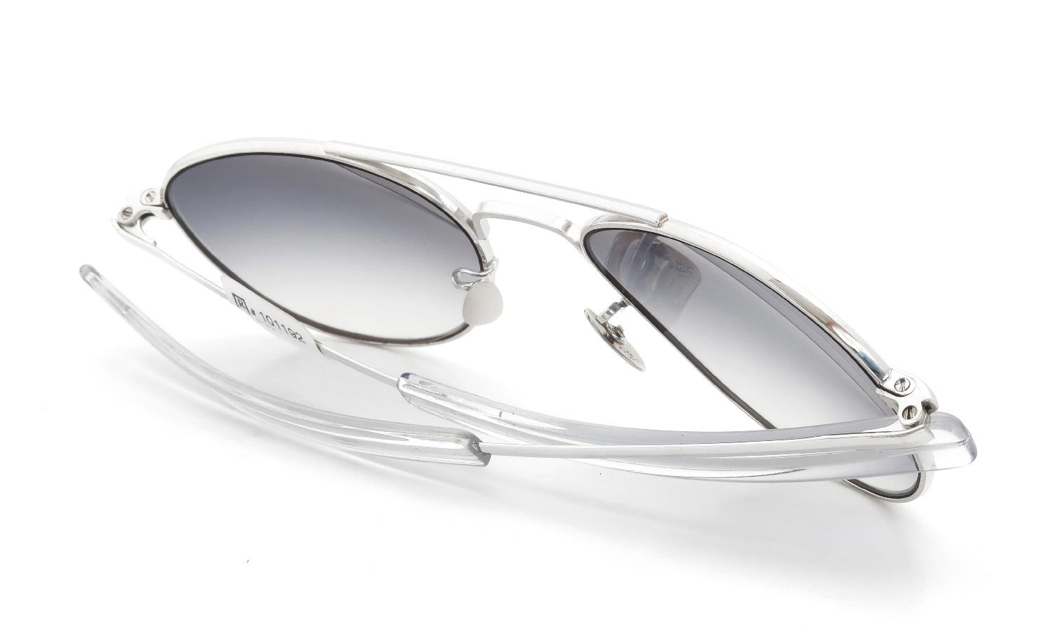 American Optical vintage 1950s Mid-Century-Modern-Pilot White-Gold 1/10 12KGF Grey-Gradation-Lens 12kPads