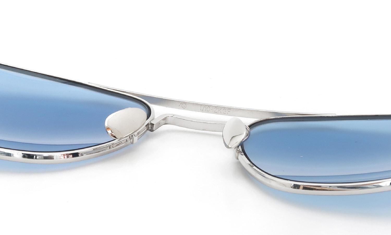 American Optical vintage Mid-Century-Modern-Pilot White-Gold 1/10 12KGF Light-Blue-Lens