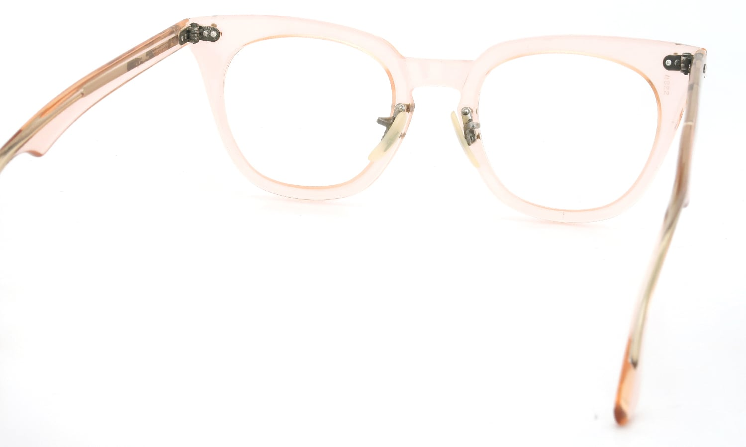 Bausch&Lomb vintage SAFETY CRYSTAL-PINK クロス鋲 48-22