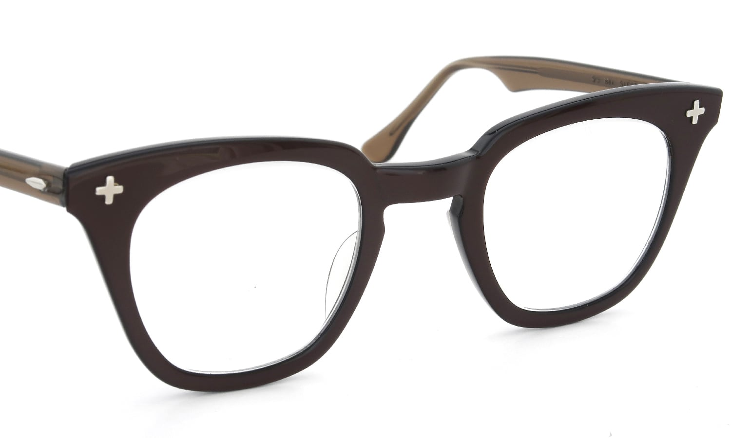 Bausch&Lomb vintage SAFETY BROWN クロス鋲 48-26