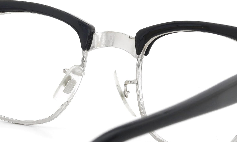 American Optical 1960s Brow Combination AO鋲 Black/Silver 46-22