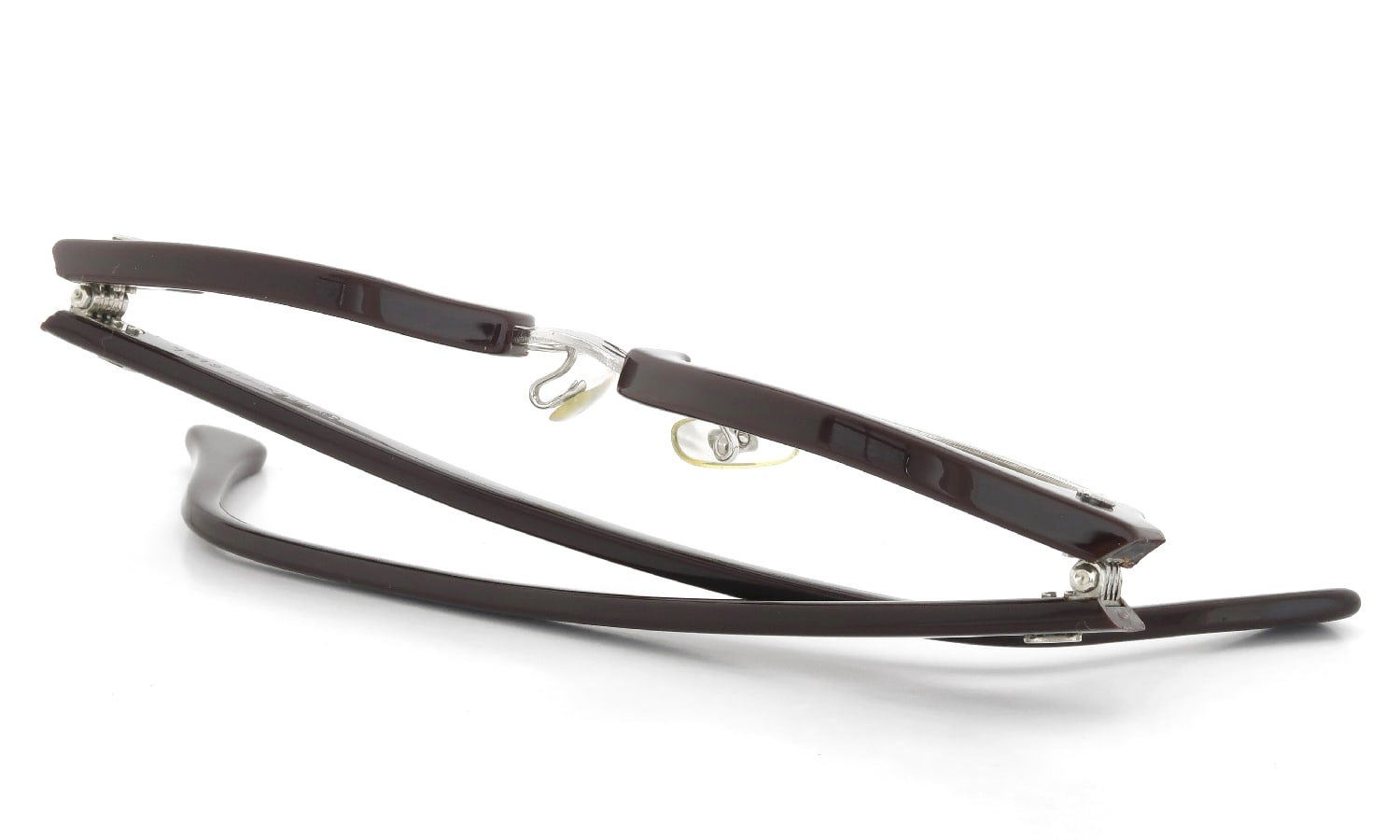 American Optical 推定1960s Brow Combination AO鋲 Brown/Silver 48-20