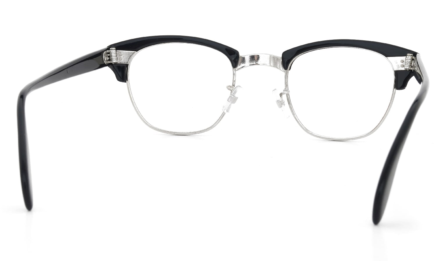American Optical 1960s Brow Combination AO鋲 Black/Silver 48-24