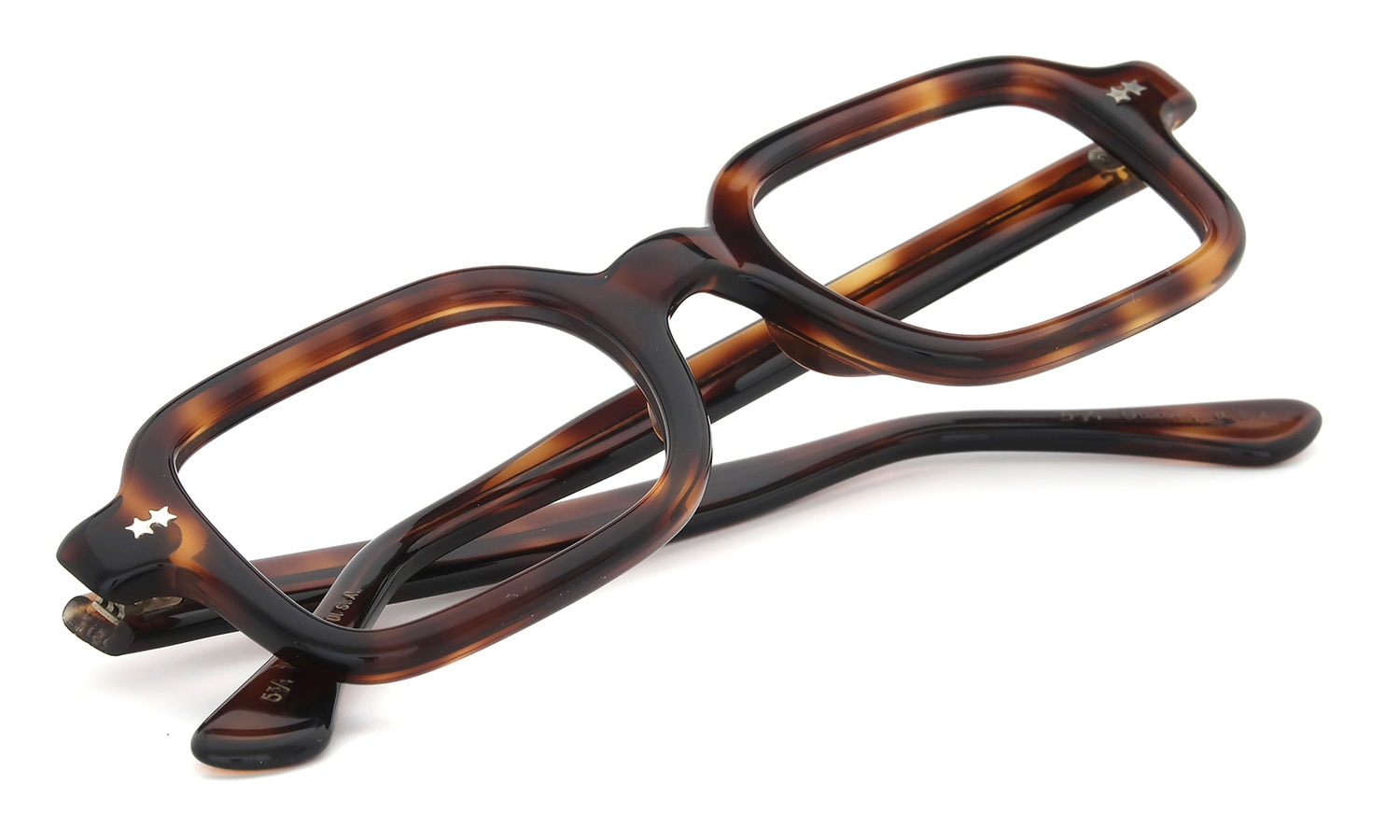 Victory Optical vintage 1960s QUADRA 432 HONEY-AMBER 48-22