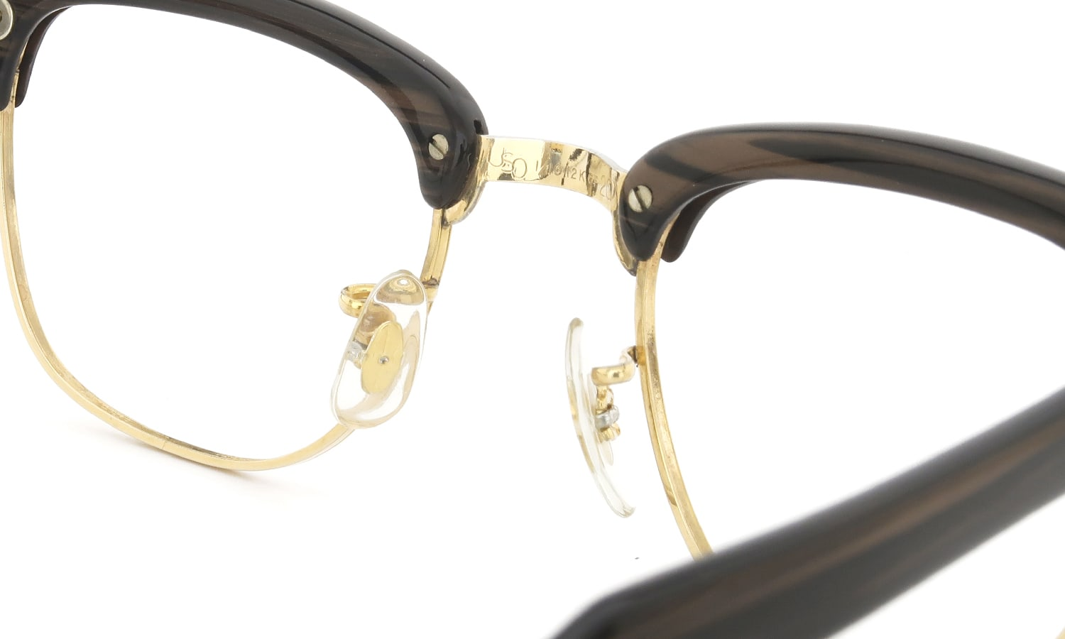 US Optical 1960s BROW Brown-Sasa/Yellow-Gold 44-20