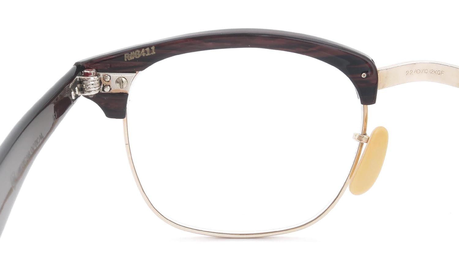 American Optical 1950s〜1960s A600 Combination REDWOOD-GOLD 1/10 12KGF 46-22