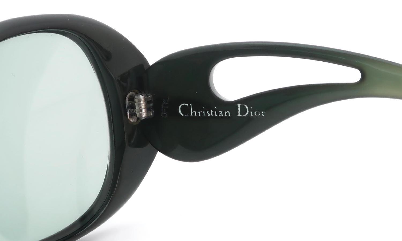 Vintage Christian Dior 1970s 744 Optyl Twe-tone-Green