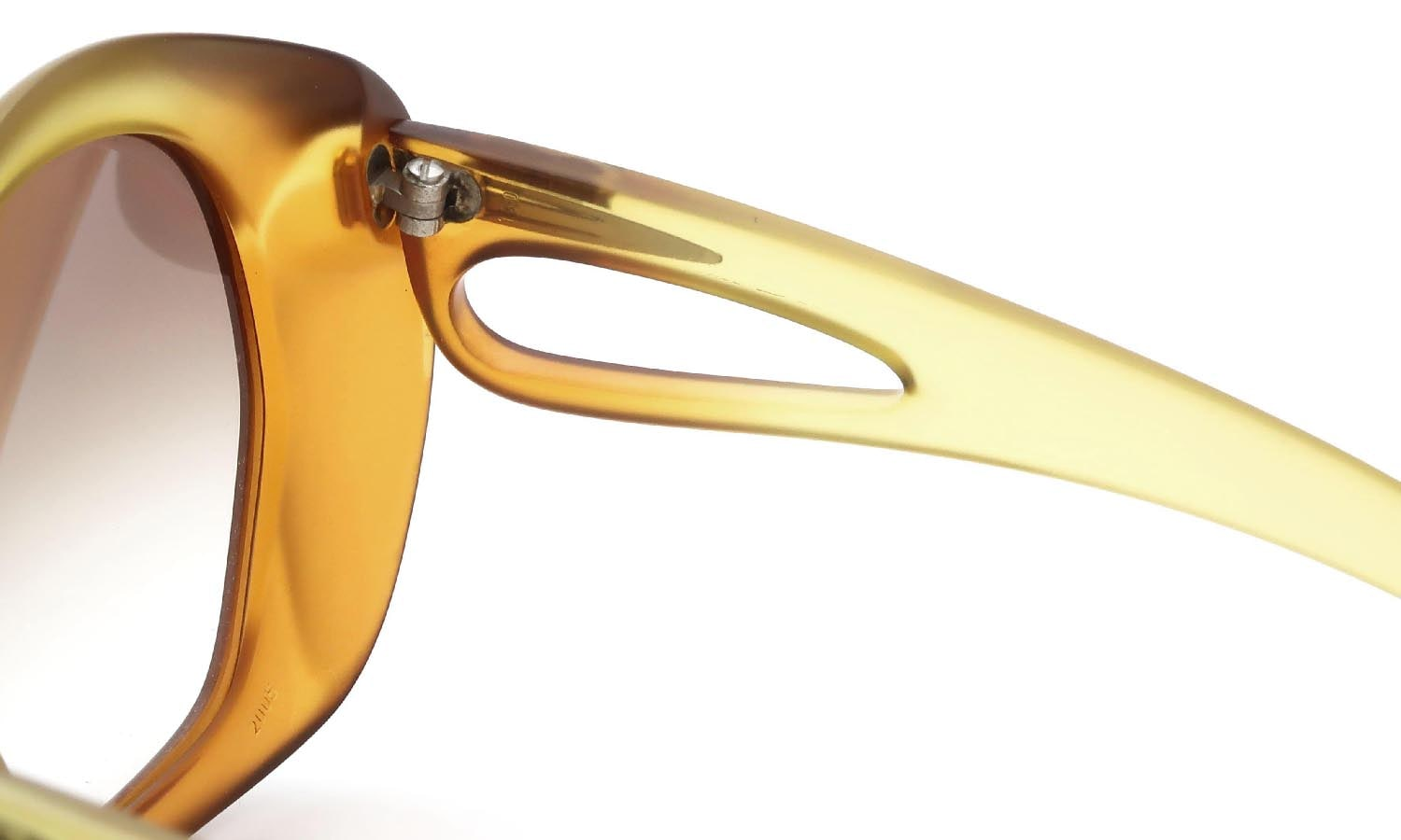 Vintage Christian Dior 1970s 2005 Optyl Matte-Yellow-Amber