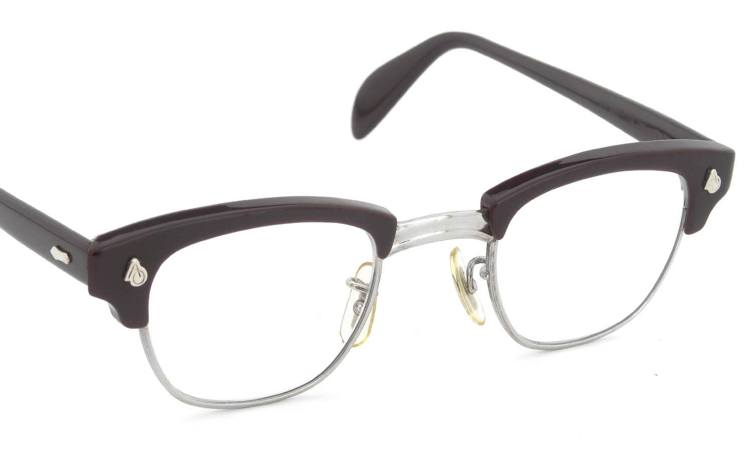 American Optical Vintage 1960s-1980s Brow Combination AO鋲 Brown/Silver 44-24