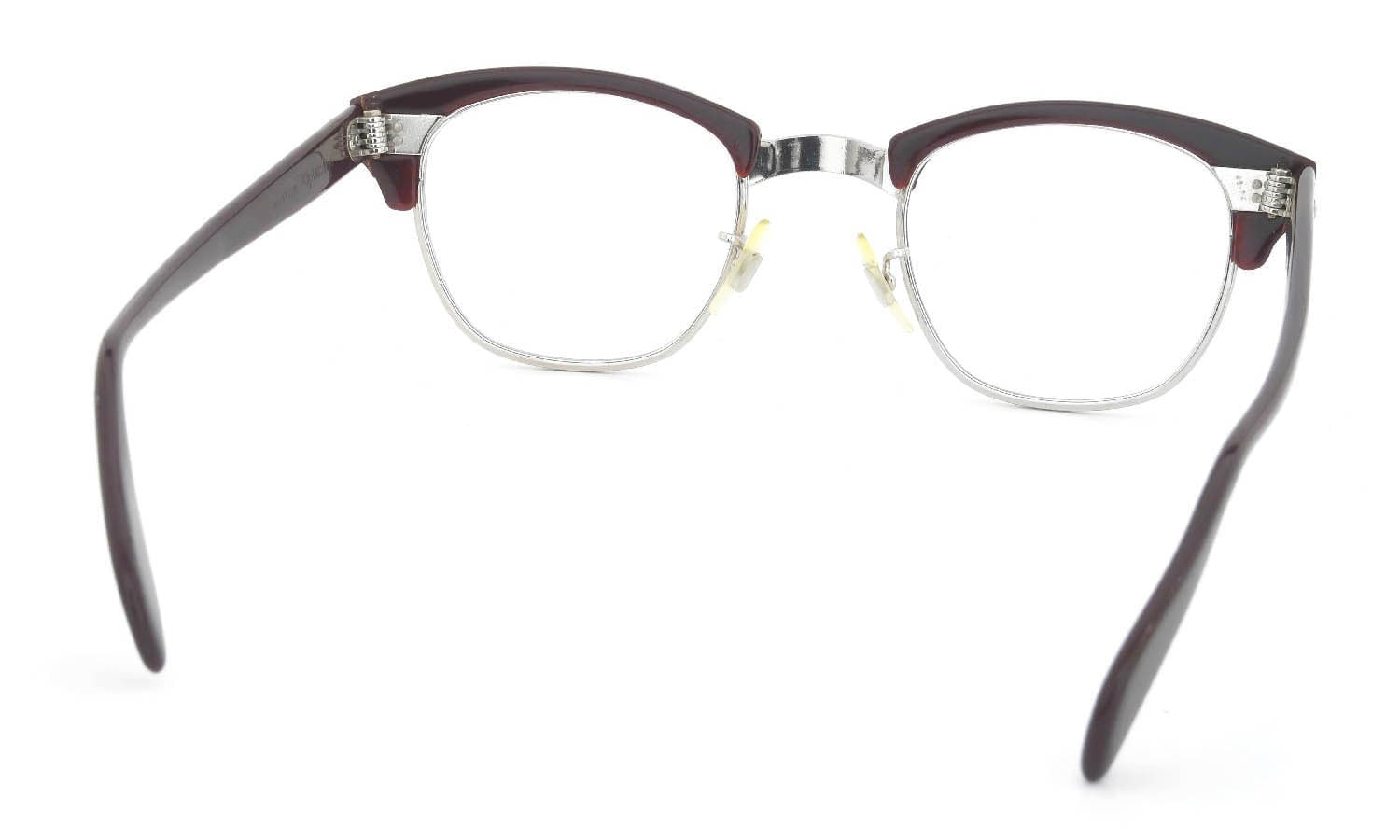 American Optical Vintage 1960s-1980s Brow Combination AO鋲 Brown/Silver 48-24